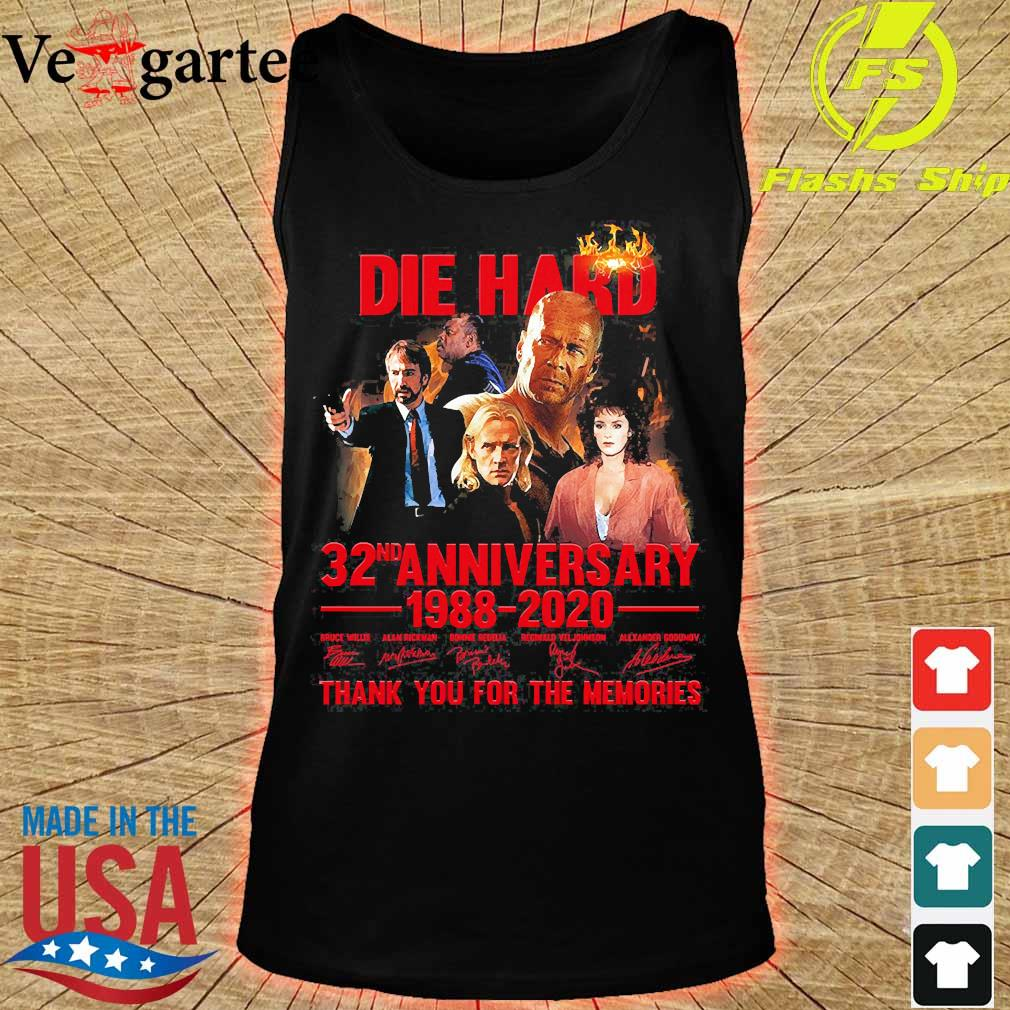 Die Hard 32nd anniversary 1988 2020 thank You for the memories signatures s tank top