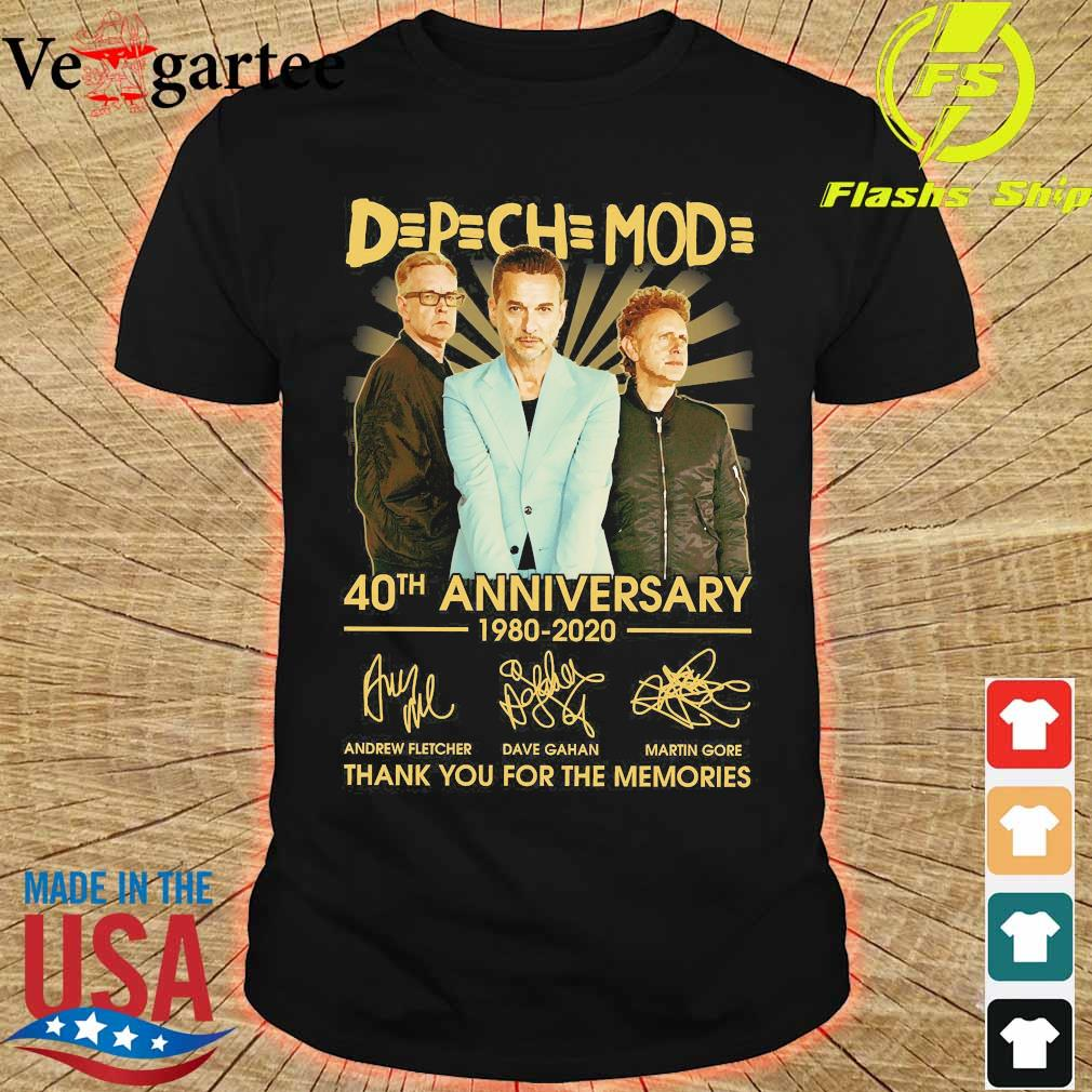 DPCH MOD 40th anniversary 1980 2020 thank You for the memories signatures shirt