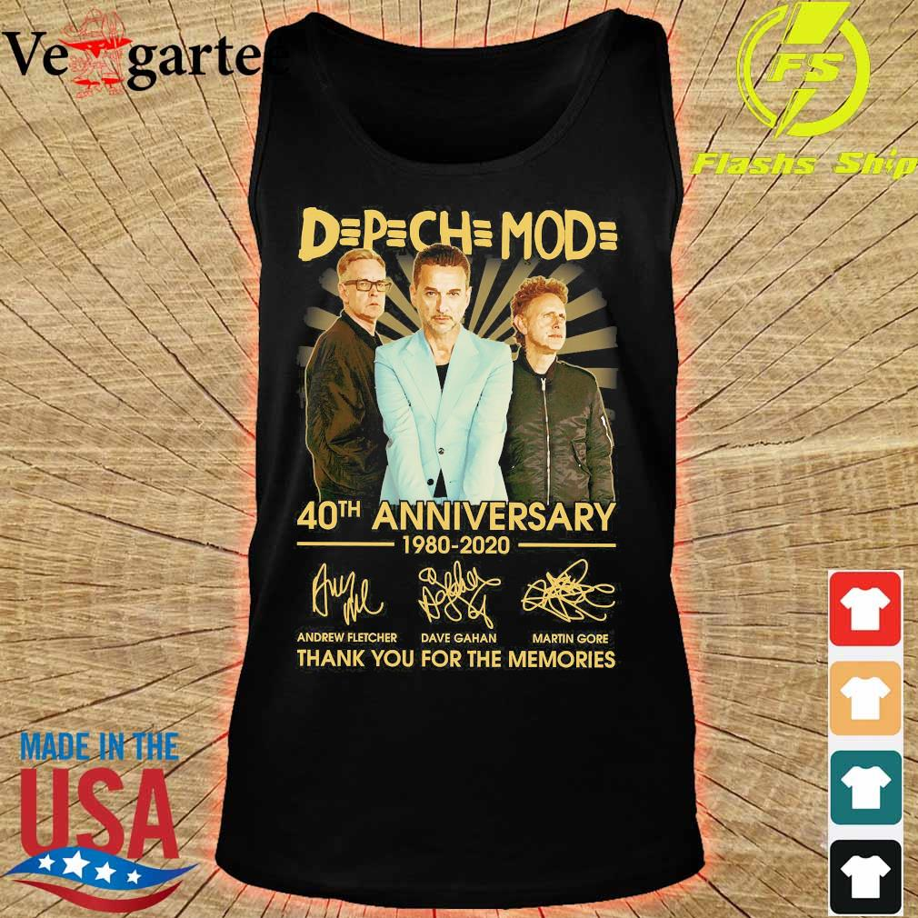DPCH MOD 40th anniversary 1980 2020 thank You for the memories signatures s tank top
