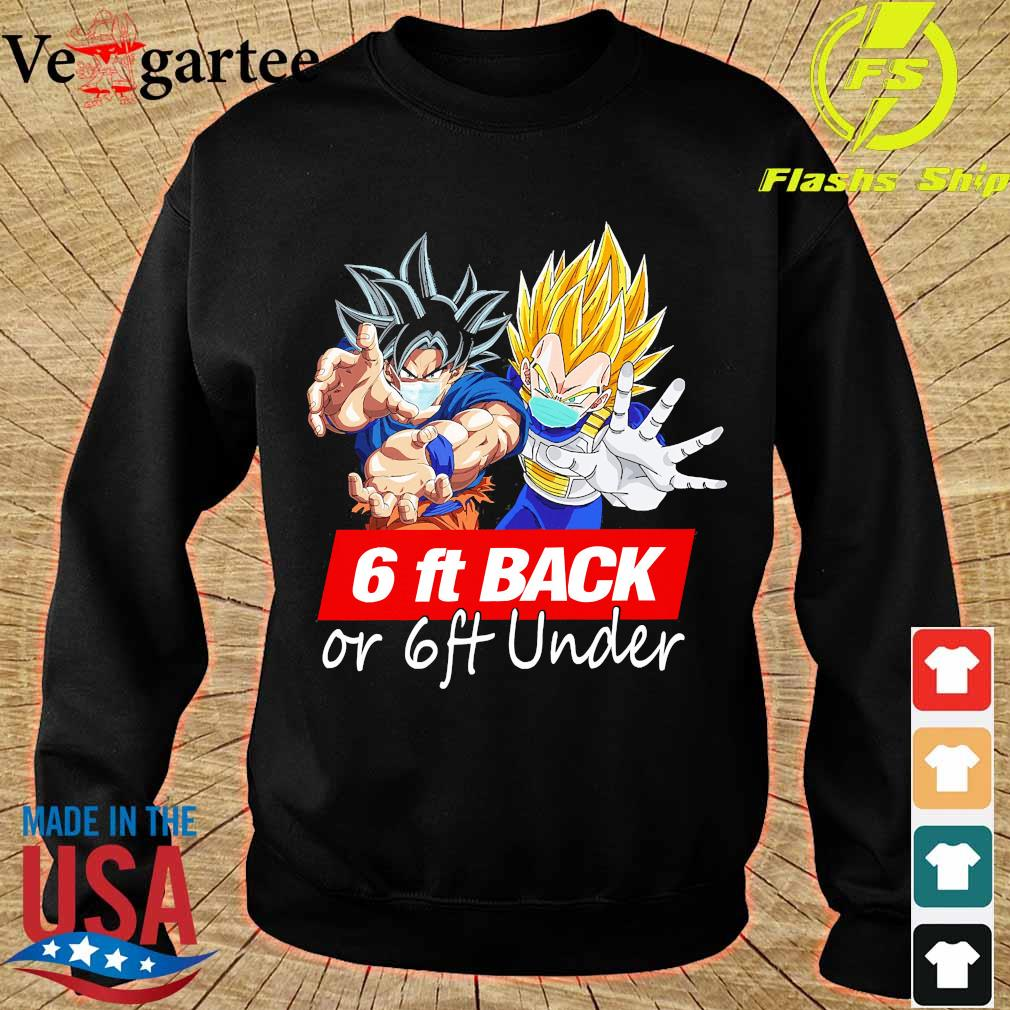 Dragon ball 6ft back or 6ft under s sweater