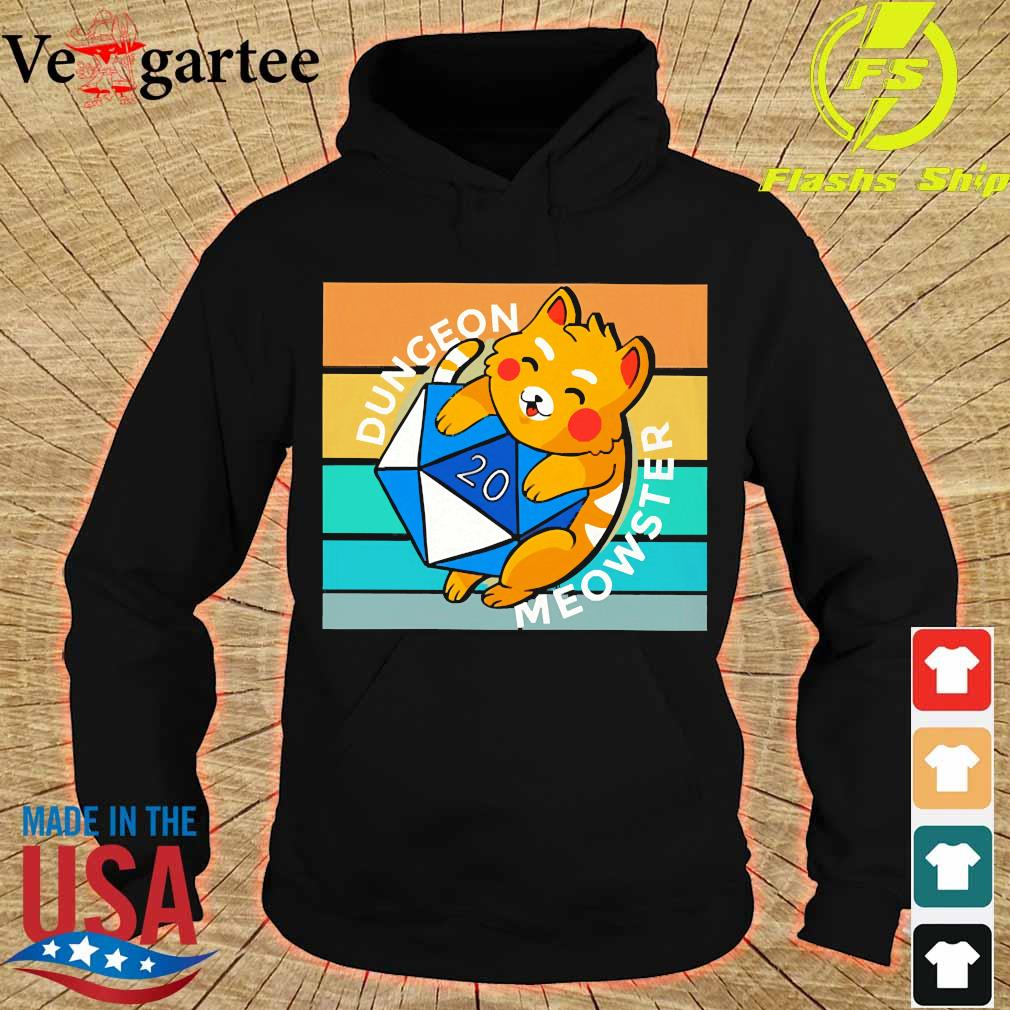 Dungeon Meowster Tabletop Gamer Nerdy Cats vintage s hoodie