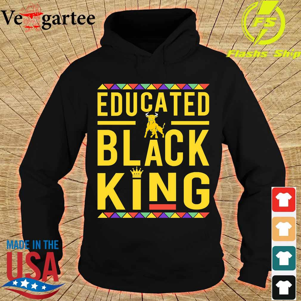 Educated Johnson C. Smith University Pennant logo Black Queen s hoodie