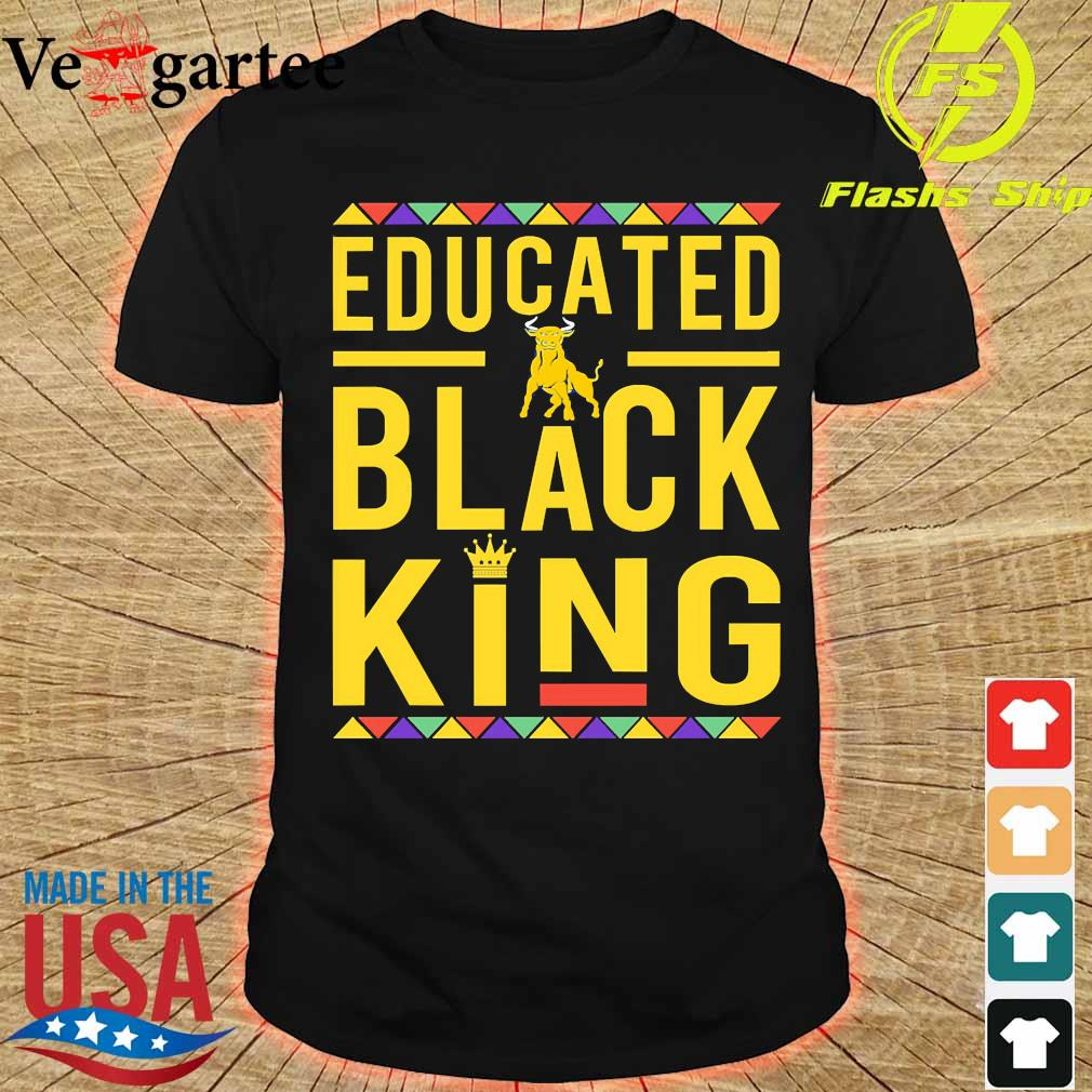 Educated Johnson C. Smith University Pennant logo Black Queen shirt