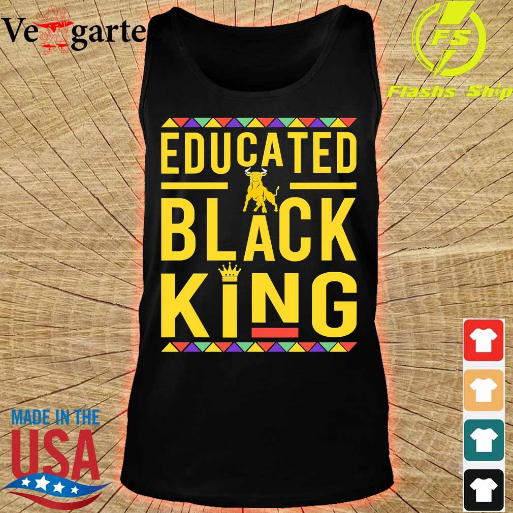 Educated Johnson C. Smith University Pennant logo Black Queen s tank top