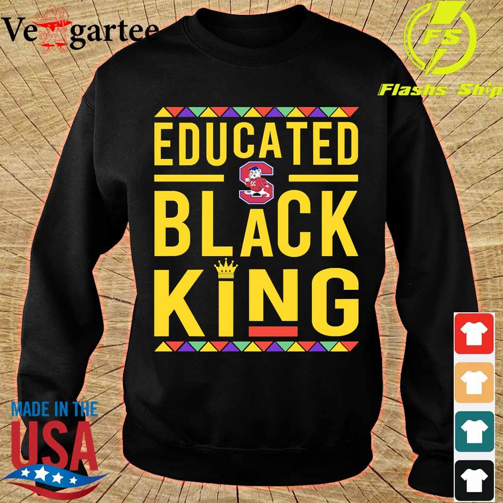 Educated South Carolina State University logo Black Queen s sweater