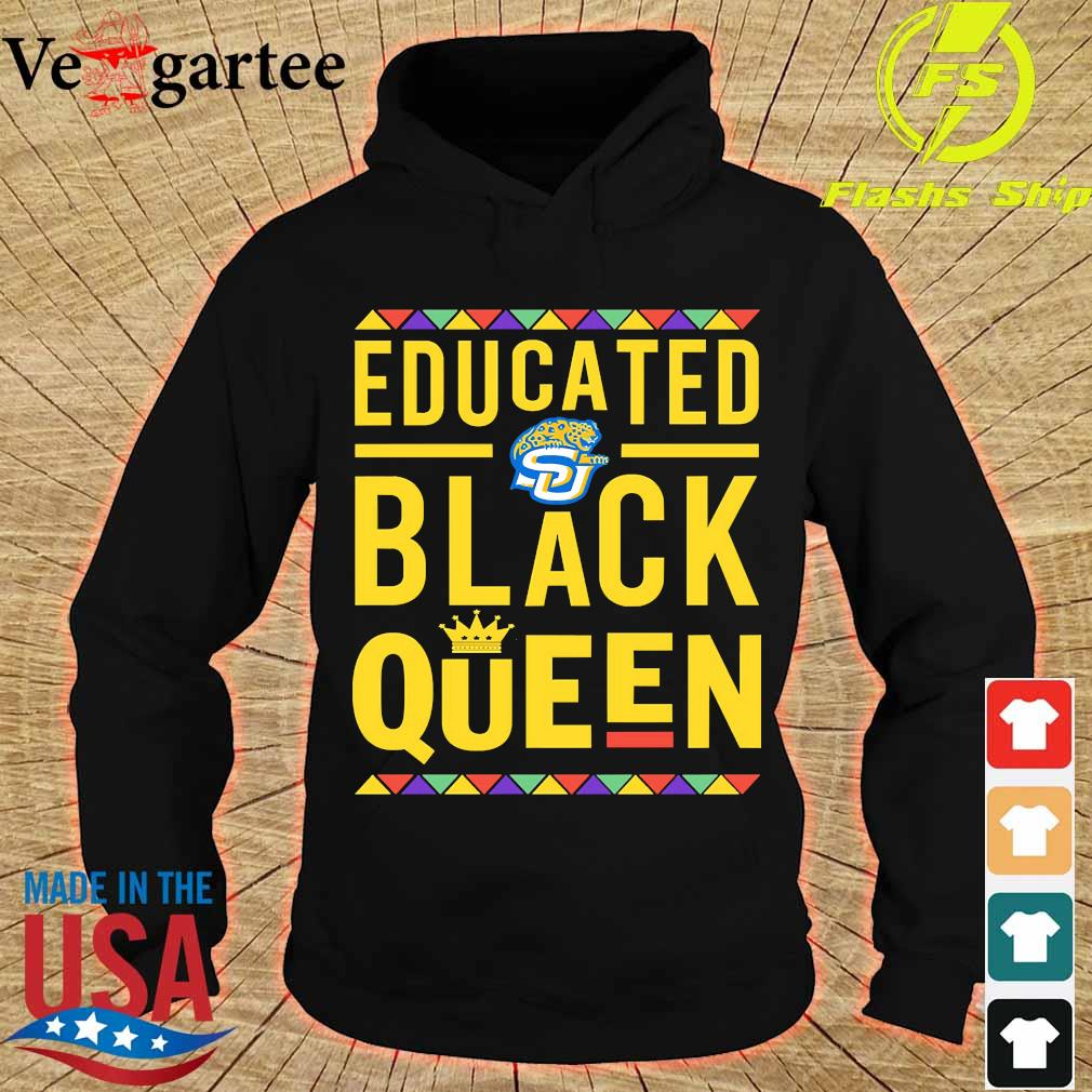 Educated Southern University logo Black Queen s hoodie