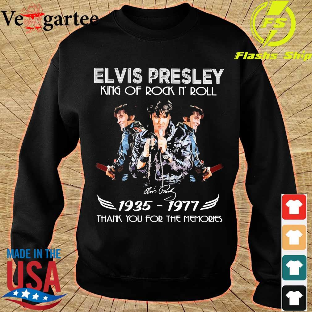 Elvis Presley King of rock n' roll signature 1935 1977 thank You for the memories s sweater