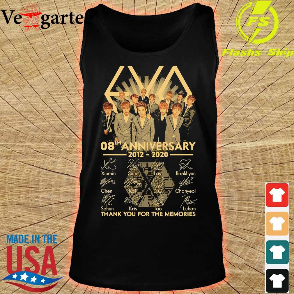 Exo 08th anniversary 2012 2020 thank You for the memories signatures s tank top