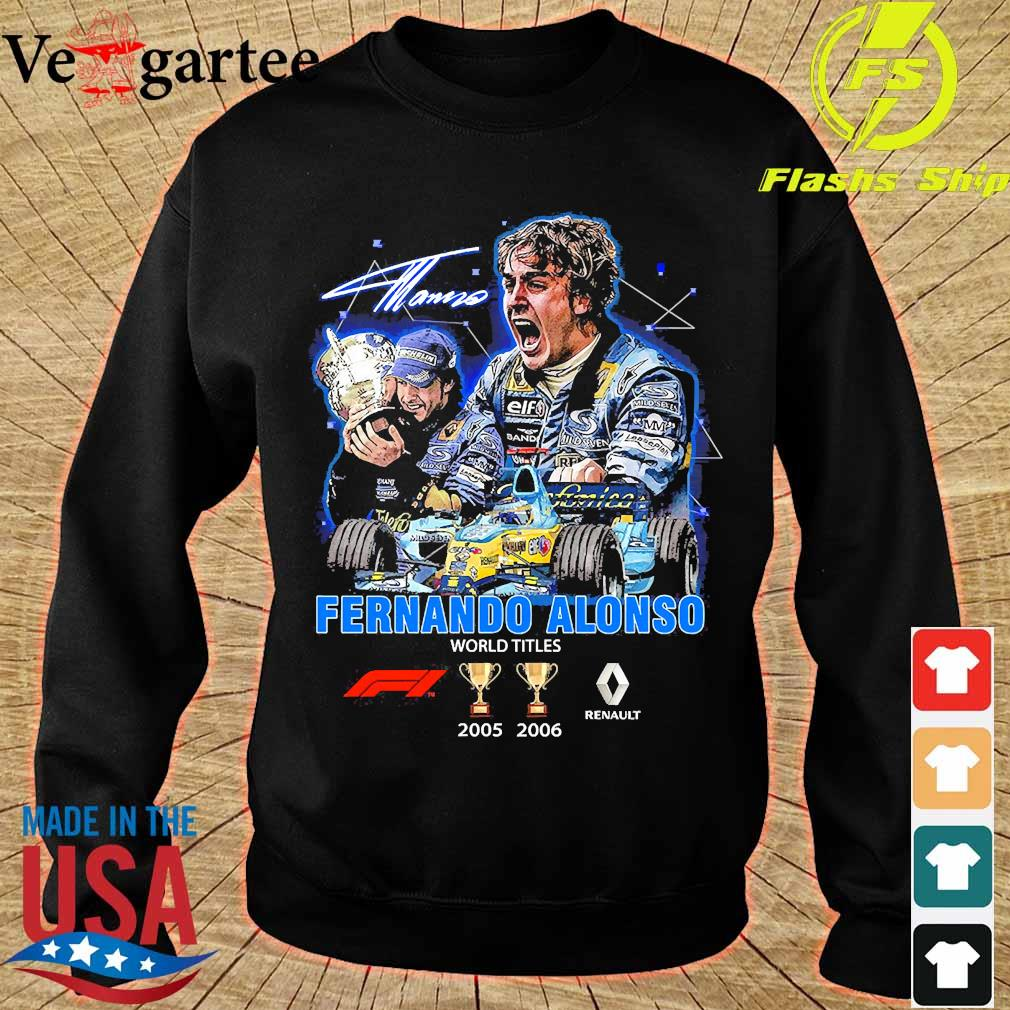 Fernando Alonso world Titles 2005 2006 signature s sweater