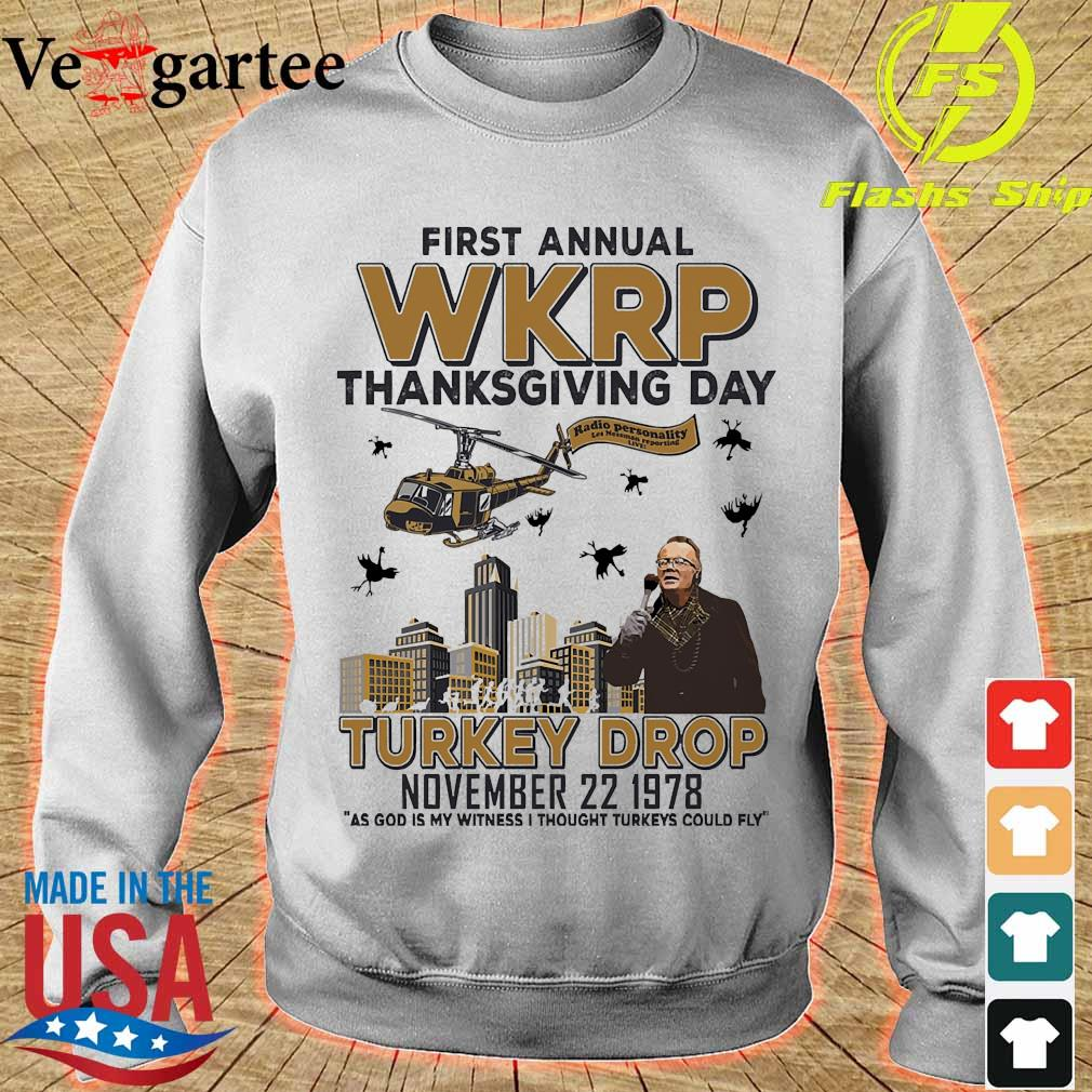 First annual WKRP thanksgiving day Turkey Drop november 22 1978 s sweater