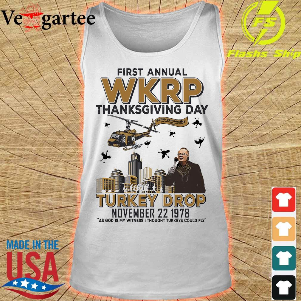First annual WKRP thanksgiving day Turkey Drop november 22 1978 s tank top