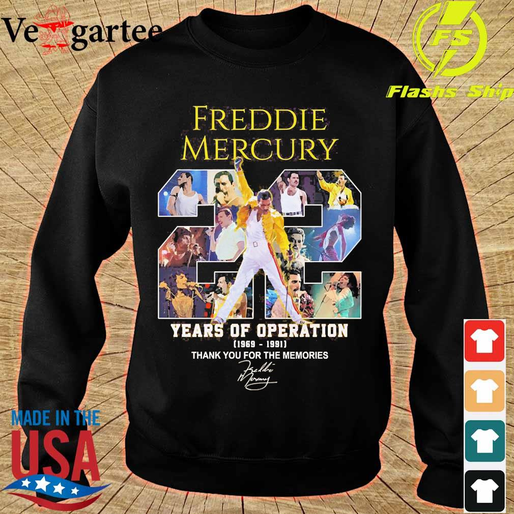 Freddie Mercury 22 years of operation 1969 1991 thank You for the memories signature s sweater