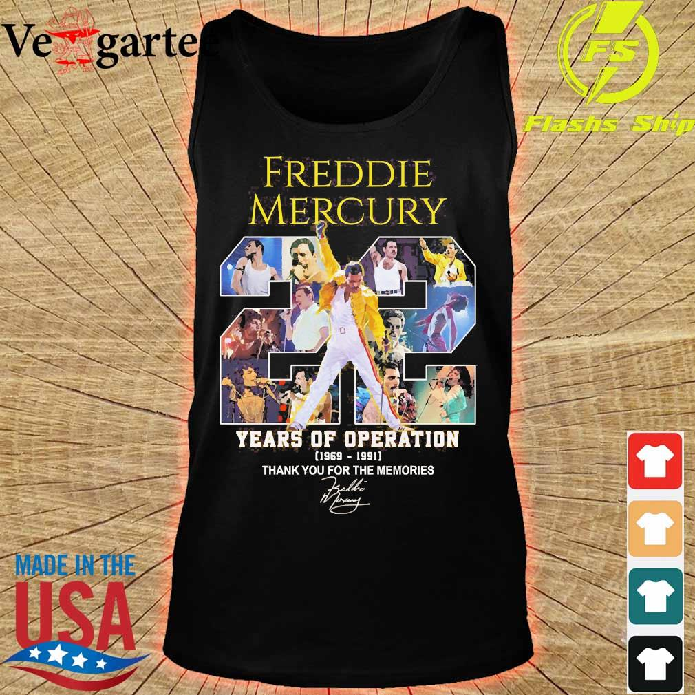 Freddie Mercury 22 years of operation 1969 1991 thank You for the memories signature s tank top