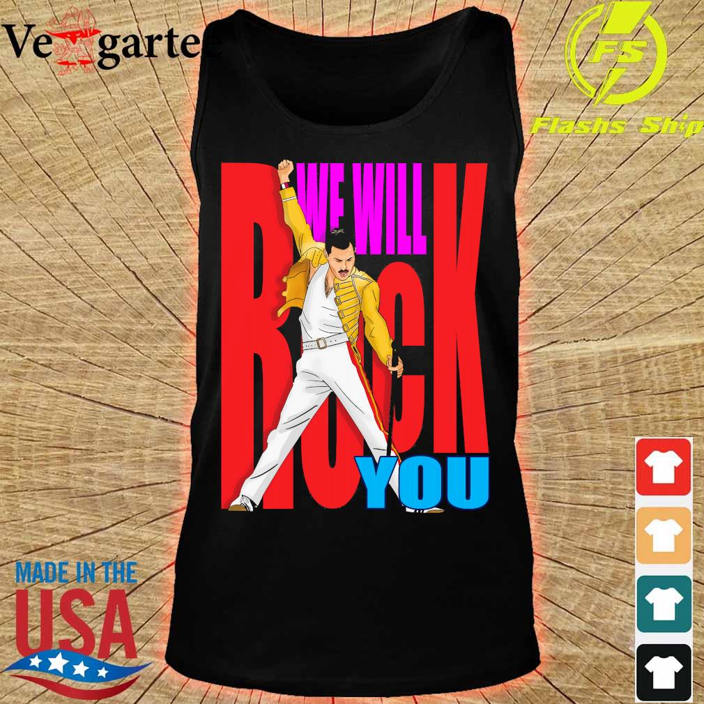 Freddie Mercury We will back You s tank top