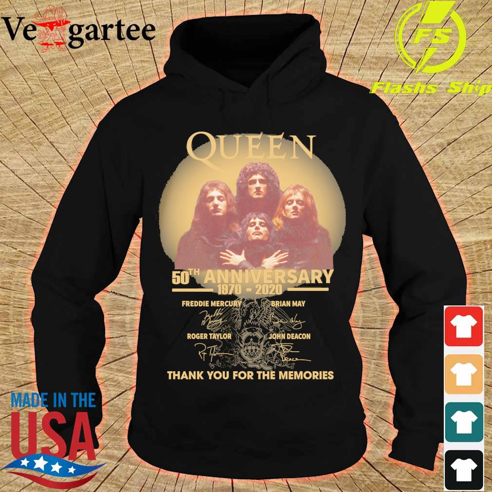 Funny Queen 50th anniversary 1970 2020 thank you for the memories signatures s hoodie