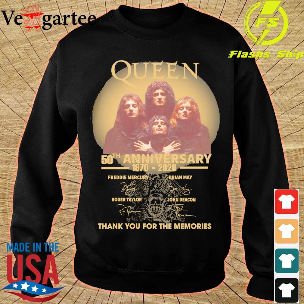 Funny Queen 50th anniversary 1970 2020 thank you for the memories signatures s sweater