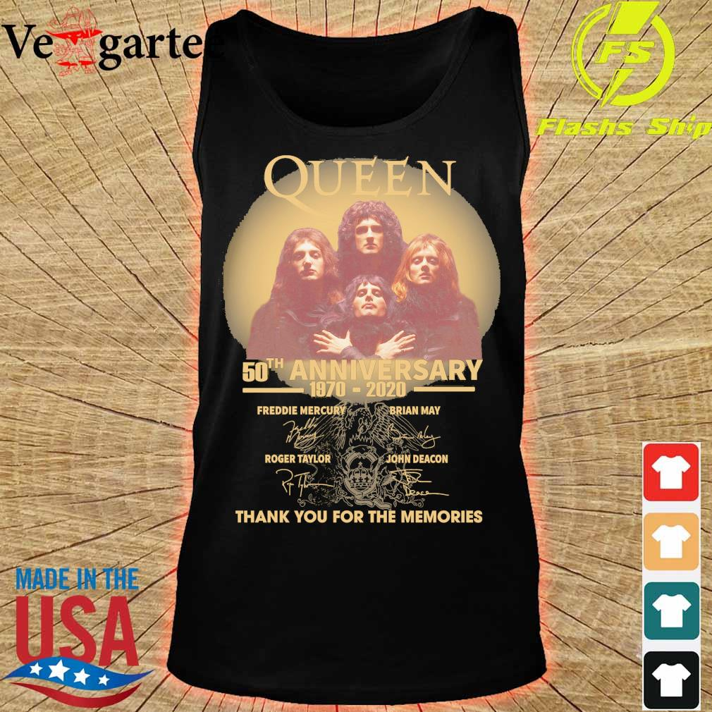 Funny Queen 50th anniversary 1970 2020 thank you for the memories signatures s tank top