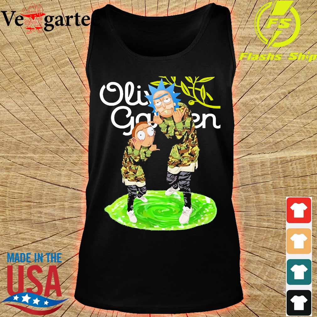 Garden Rick and Morty Olive s tank top
