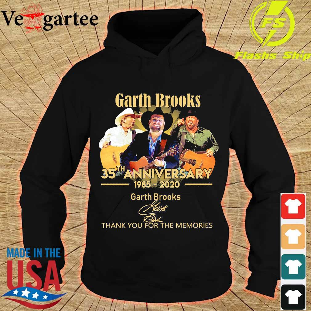Garth Brooks 35th anniversary 1985 2020 thank You for the memories signatures s hoodie