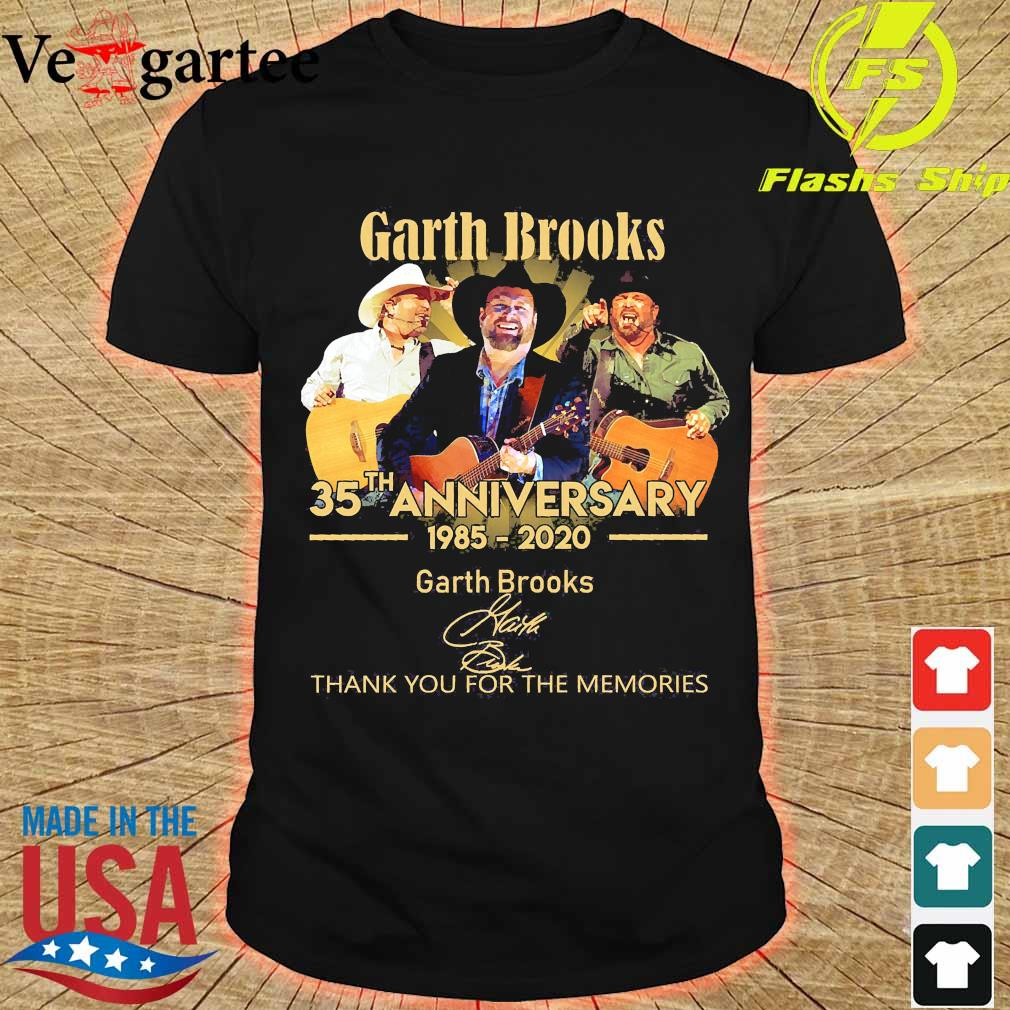 Garth Brooks 35th anniversary 1985 2020 thank You for the memories signatures shirt