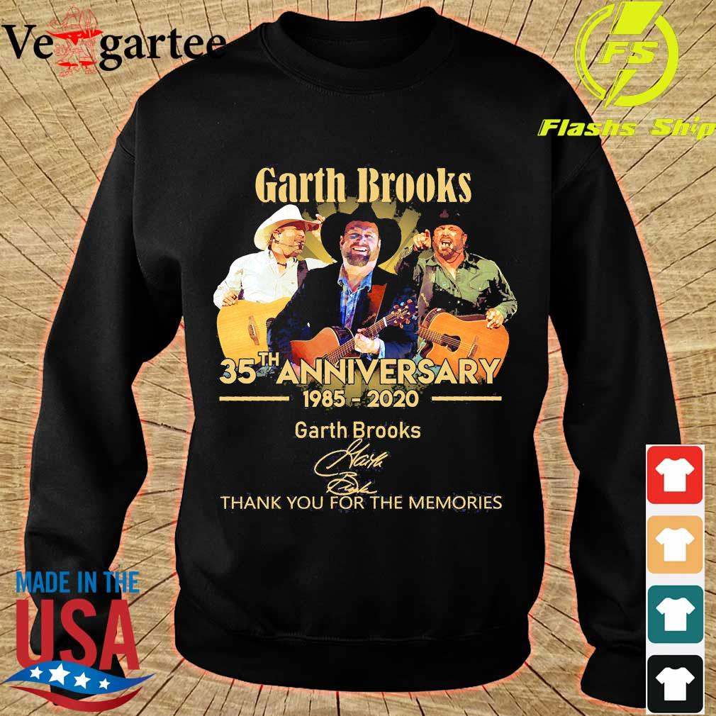 Garth Brooks 35th anniversary 1985 2020 thank You for the memories signatures s sweater