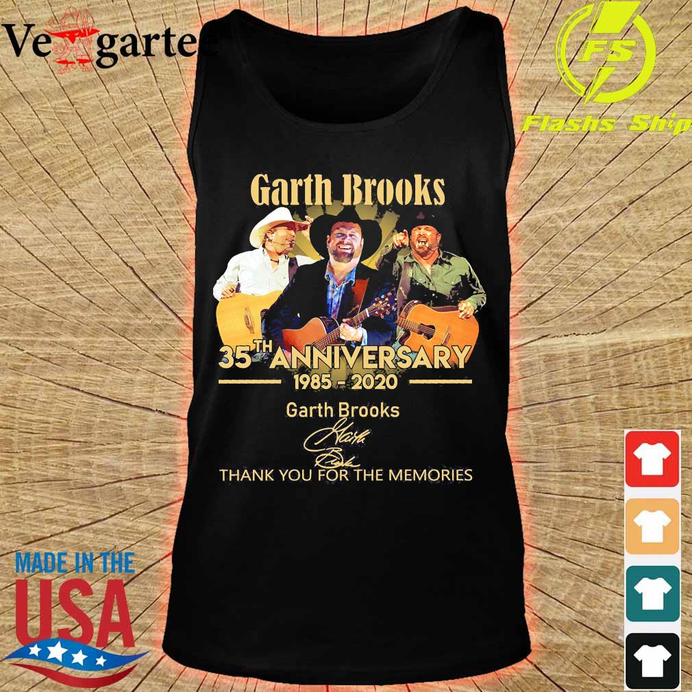 Garth Brooks 35th anniversary 1985 2020 thank You for the memories signatures s tank top
