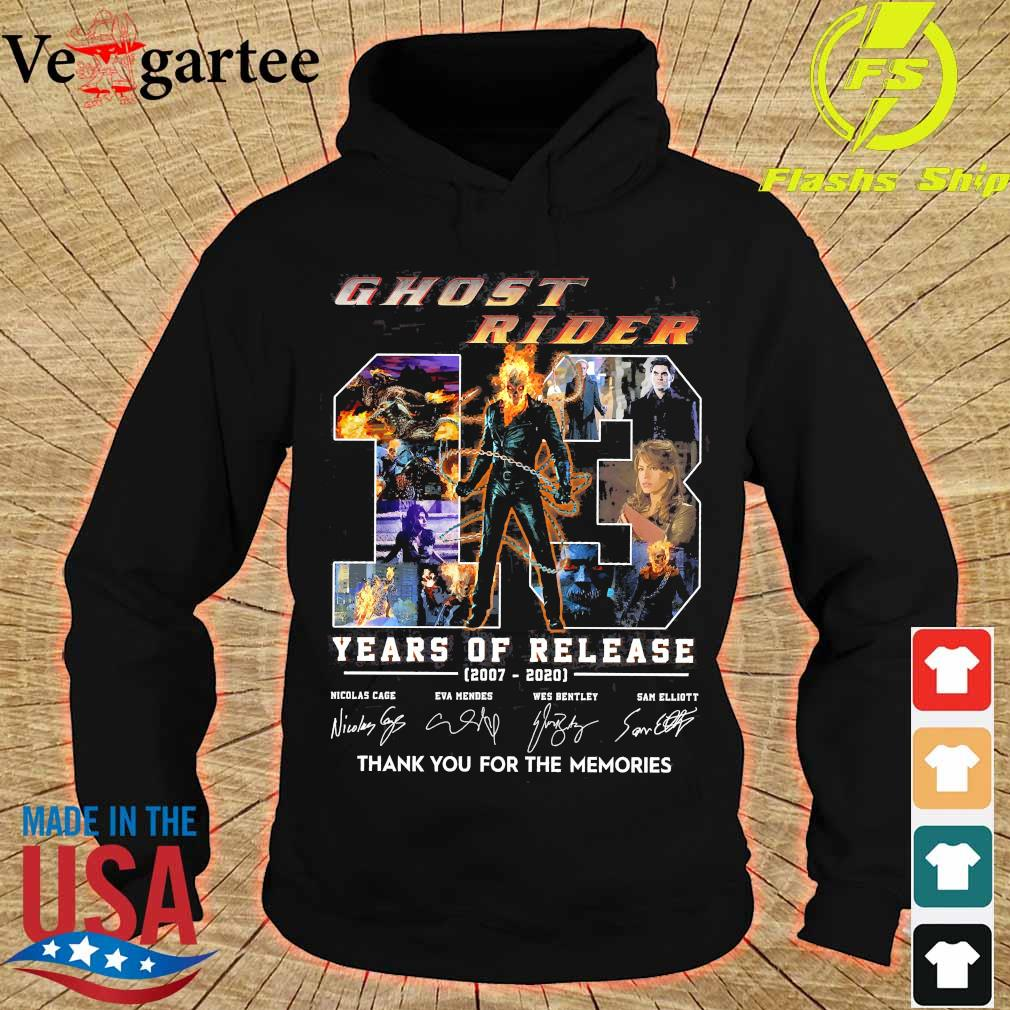 Ghost Rider 13 Years of release 2007 2020 thank You for the memories signatures s hoodie
