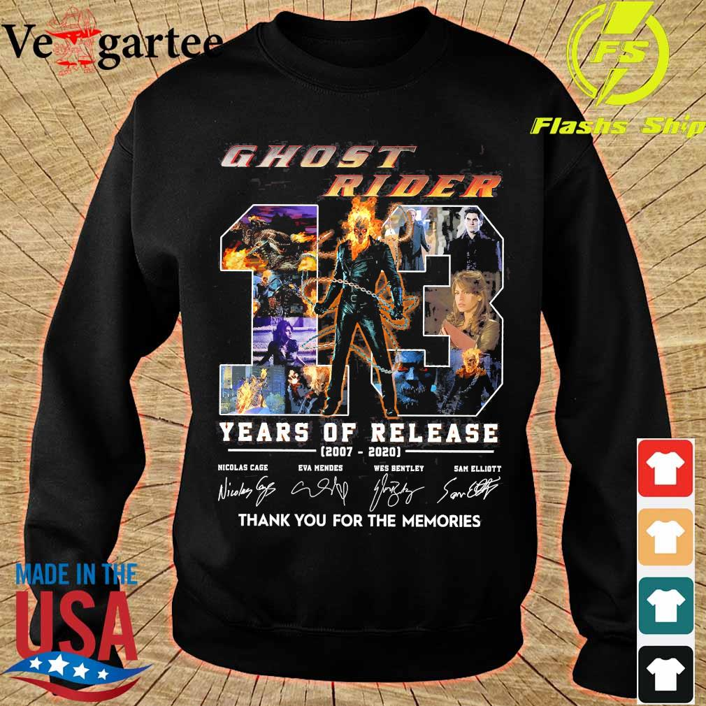 Ghost Rider 13 Years of release 2007 2020 thank You for the memories signatures s sweater