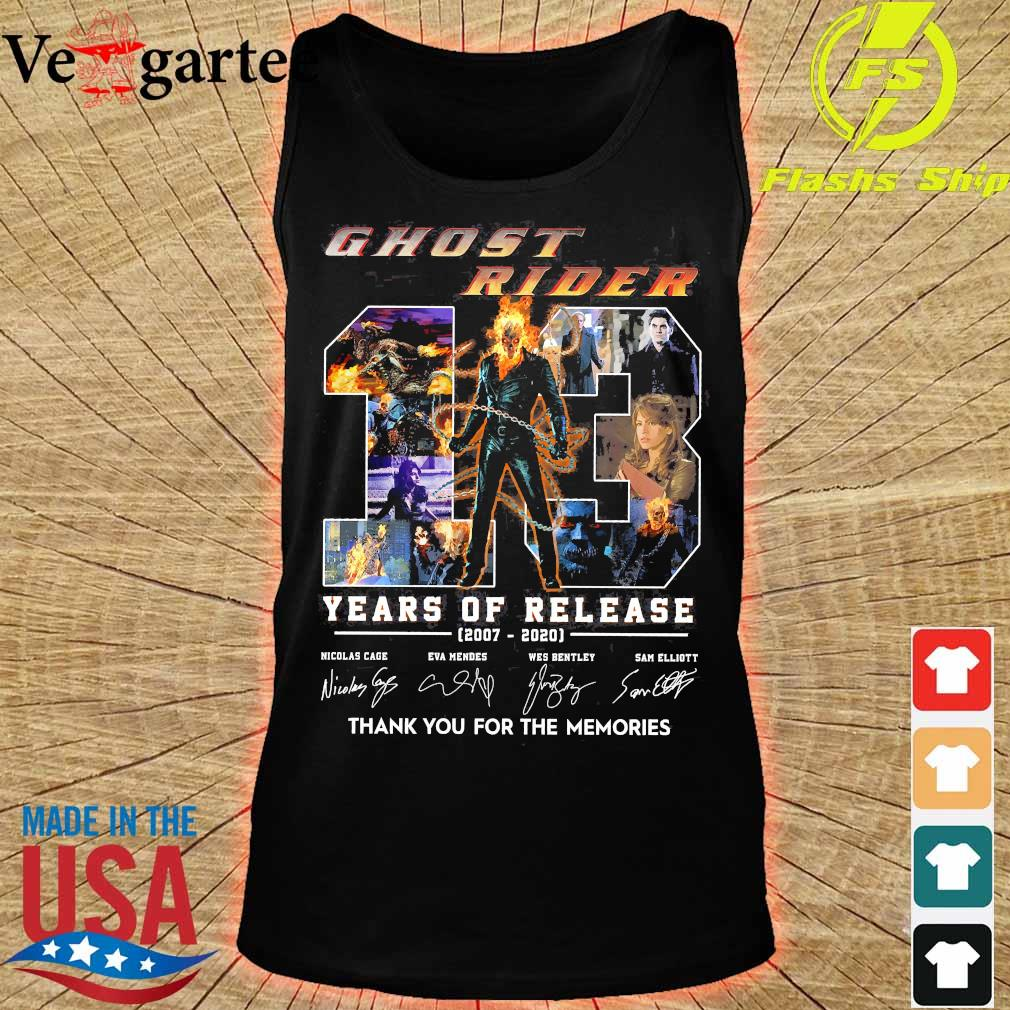 Ghost Rider 13 Years of release 2007 2020 thank You for the memories signatures s tank top