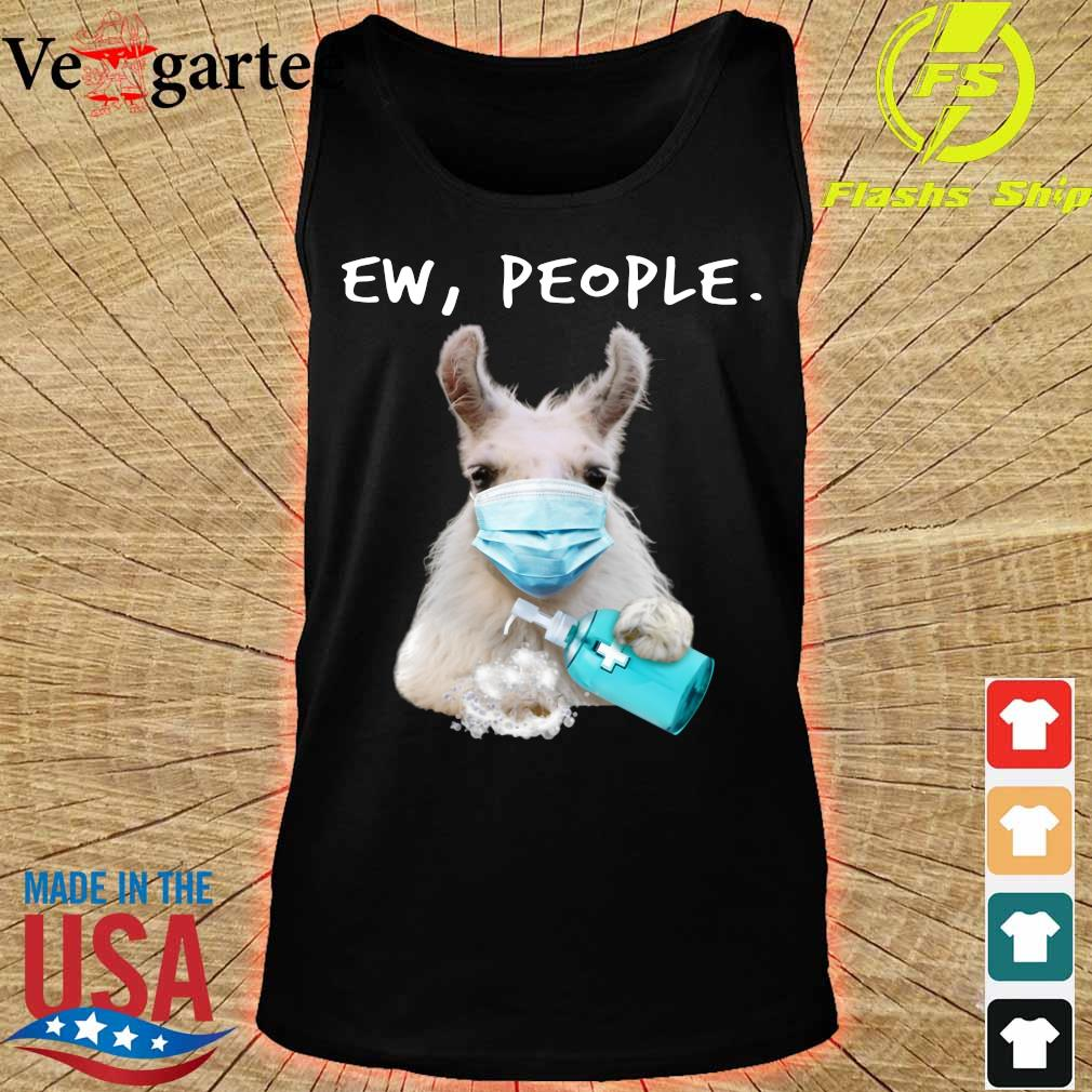 Goat face mask ew people s tank top