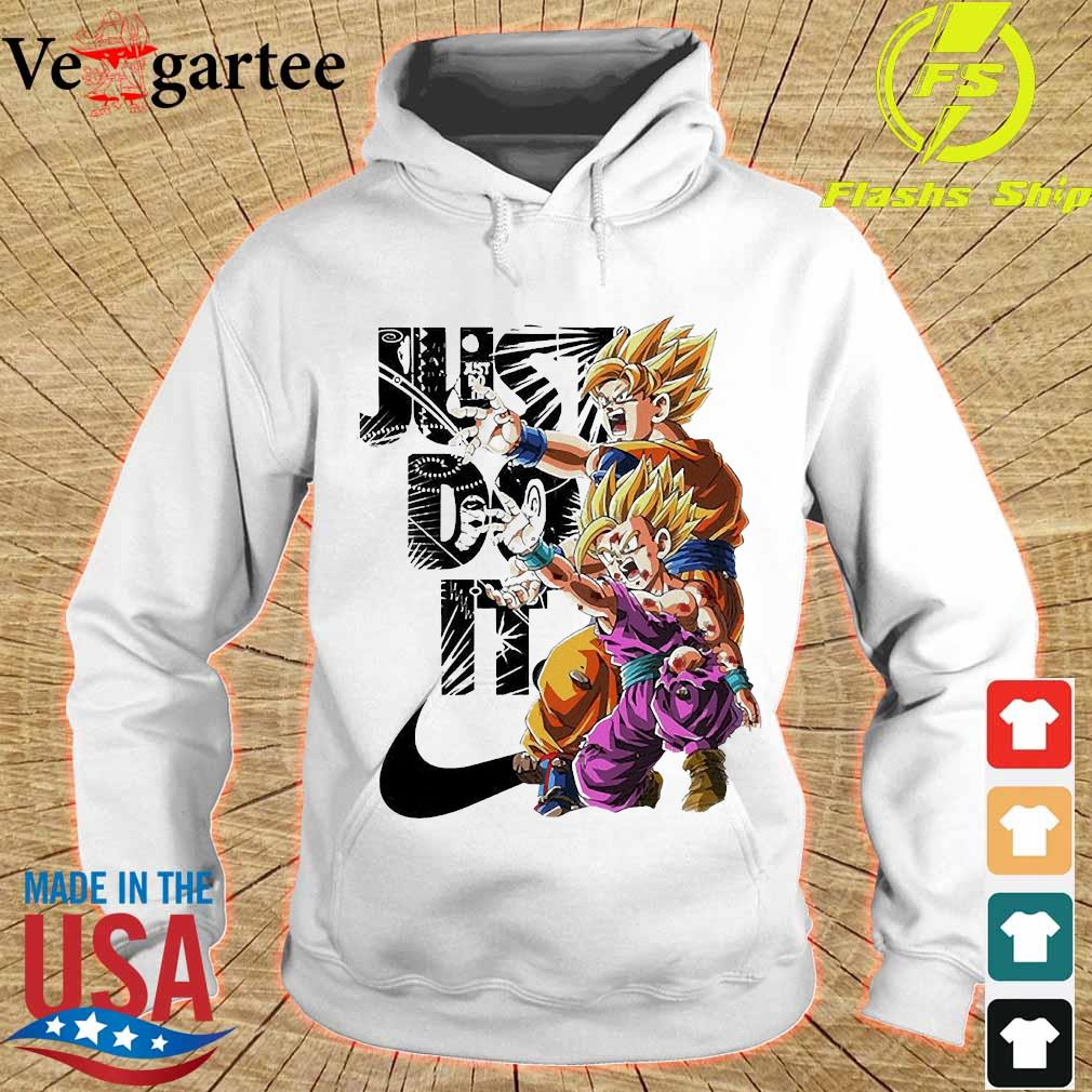 Goku and Gohan Kamehameha Nike just do it Shirt hoodie