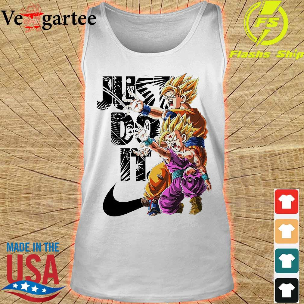 Goku and Gohan Kamehameha Nike just do it Shirt tank top