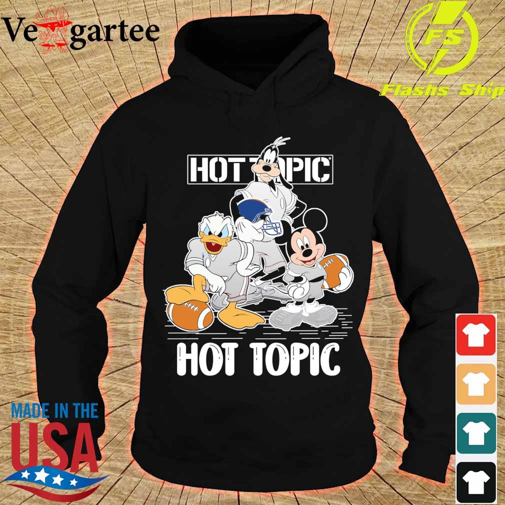 Goofy Donald Duck and Mickey Mouse football player Hot Topic s hoodie