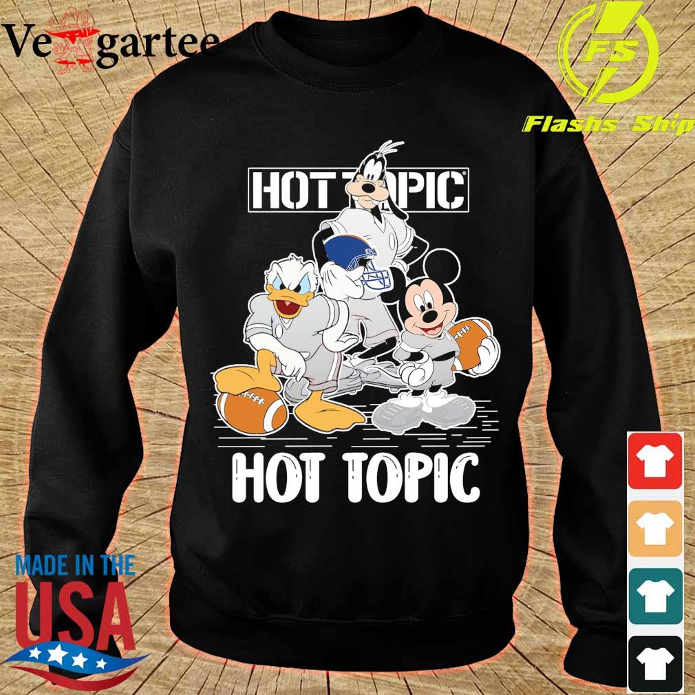 Goofy Donald Duck and Mickey Mouse football player Hot Topic s sweater