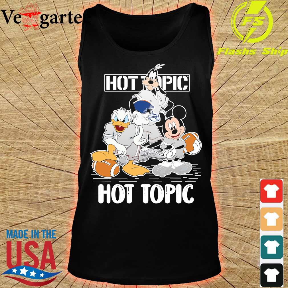 Goofy Donald Duck and Mickey Mouse football player Hot Topic s tank top