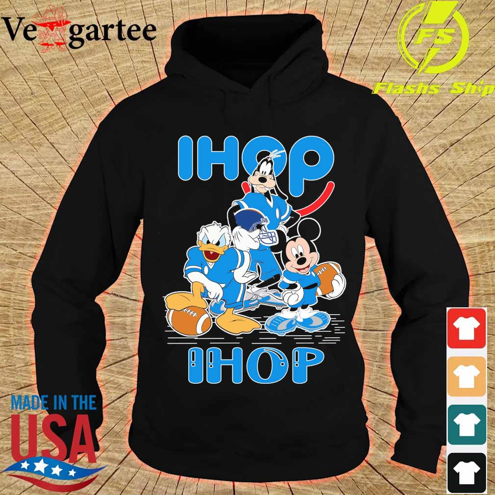 Goofy Donald Duck and Mickey Mouse football player Ihop s hoodie