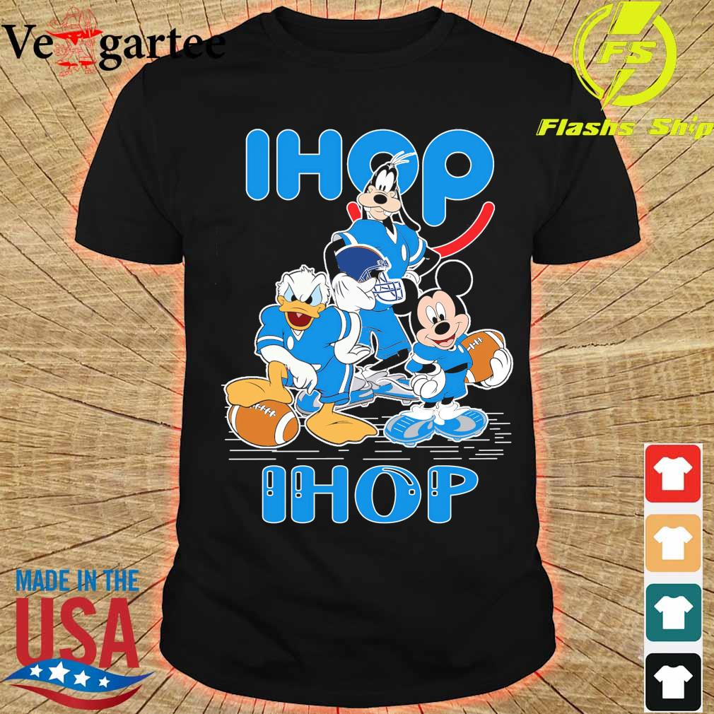 Goofy Donald Duck and Mickey Mouse football player Ihop shirt