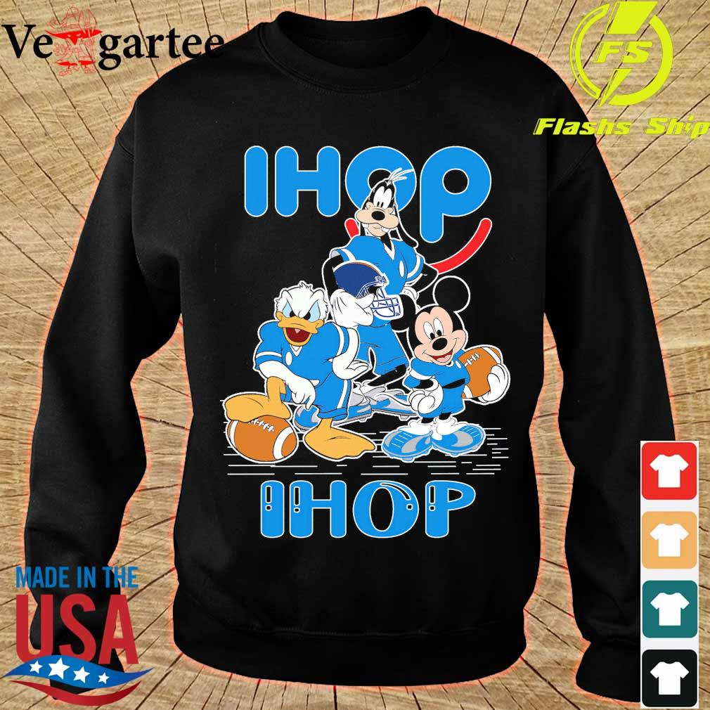 Goofy Donald Duck and Mickey Mouse football player Ihop s sweater