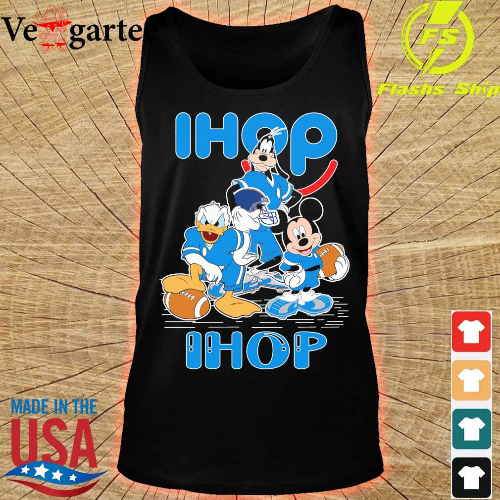 Goofy Donald Duck and Mickey Mouse football player Ihop s tank top