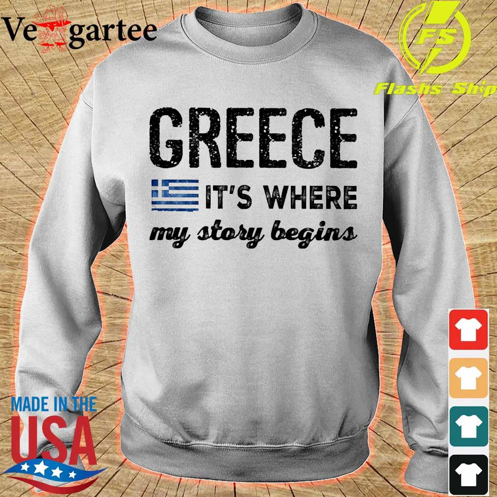 Greece It_s where my story begins s sweater