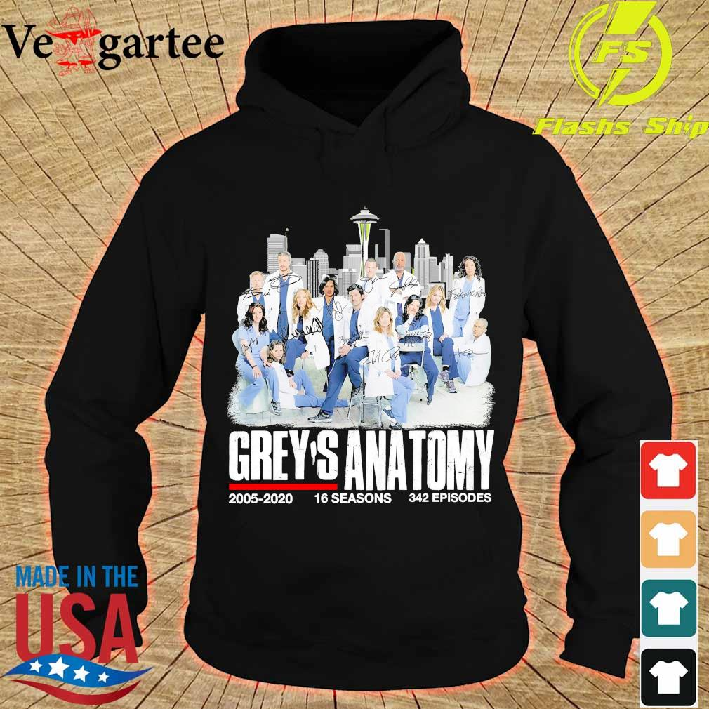Grey's anatomy 2005 2020 16 seasons 342 episodes s hoodie