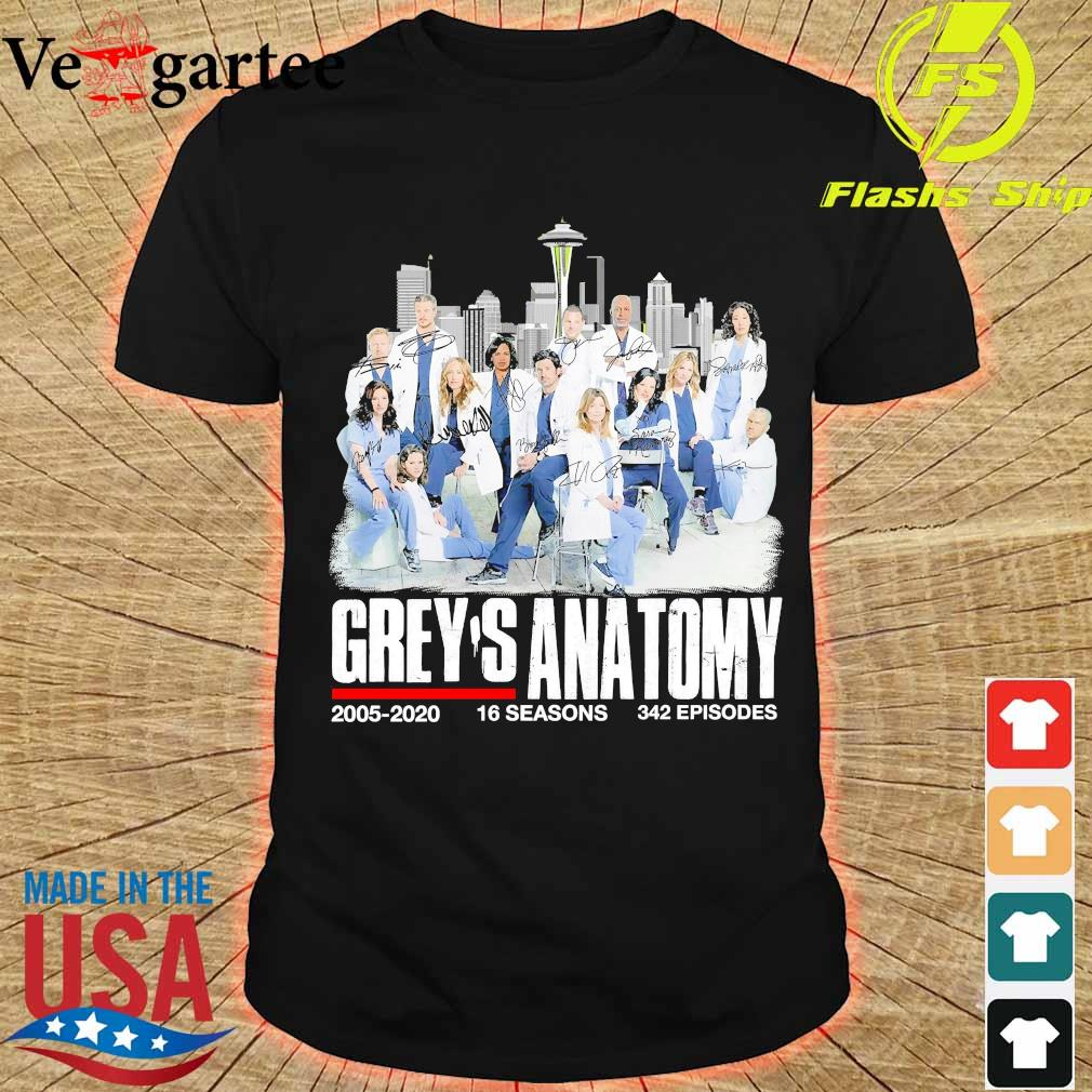 Grey's anatomy 2005 2020 16 seasons 342 episodes shirt