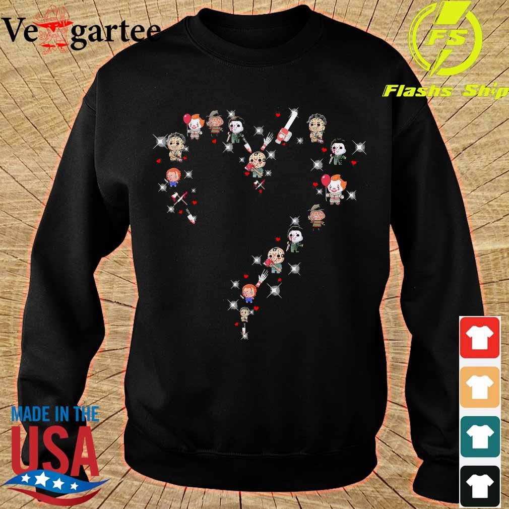 Halloween Horror characters chibi heart s sweater