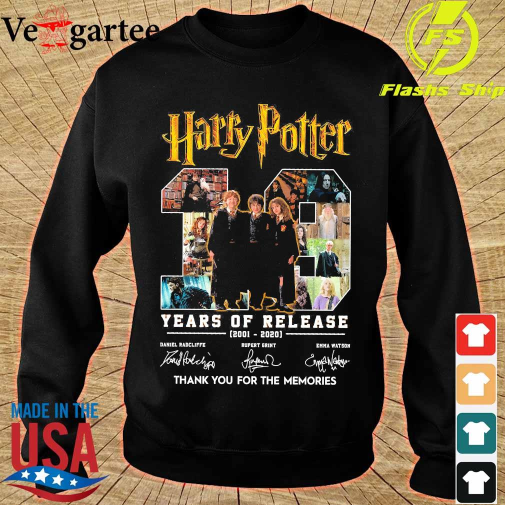 Harry Potter 19 Years of release 2001 2020 thank You for the memories signatures s sweater