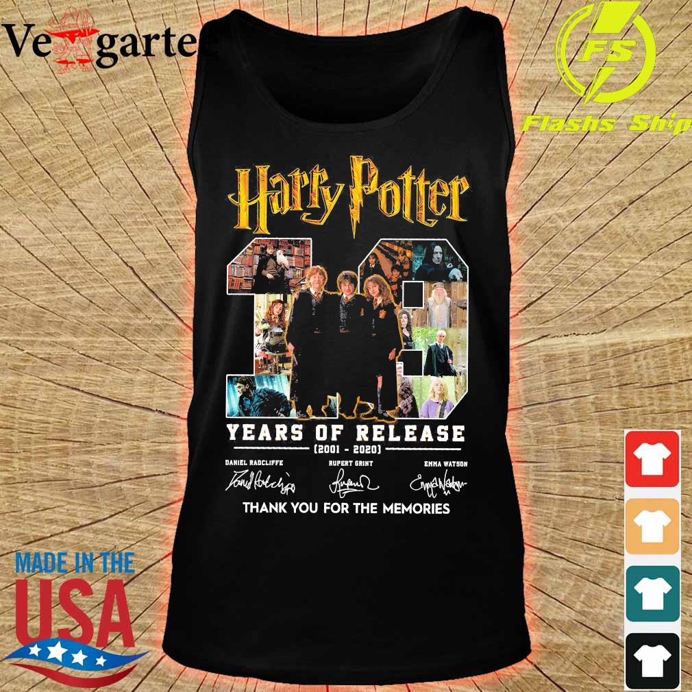 Harry Potter 19 Years of release 2001 2020 thank You for the memories signatures s tank top