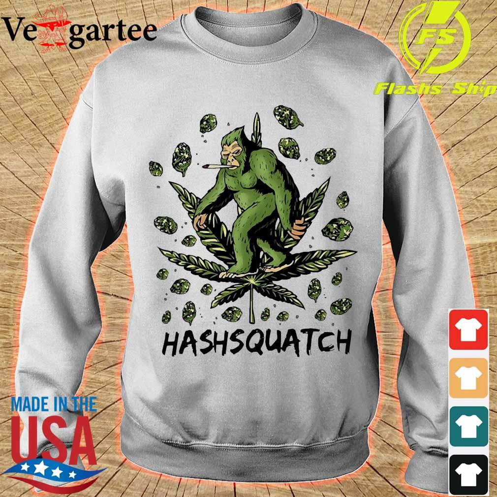 Hashsquatch Funny Bigfoot weed s sweater