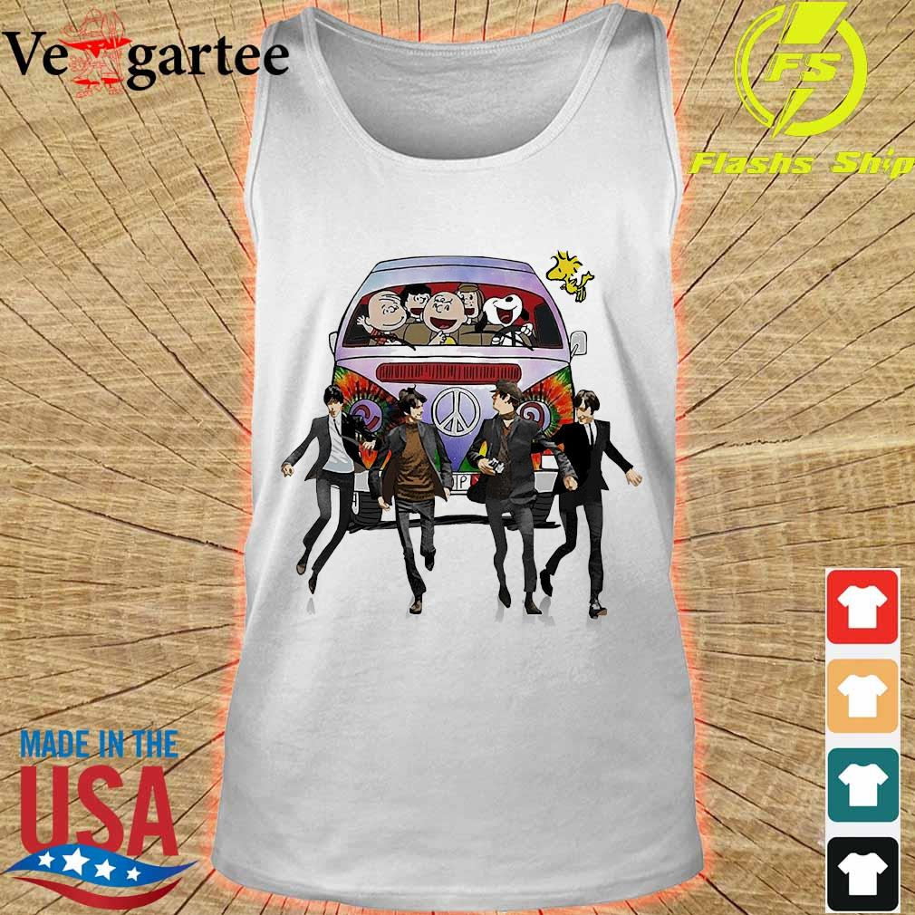 Hippie The The Peanuts and The Beatle s tank top