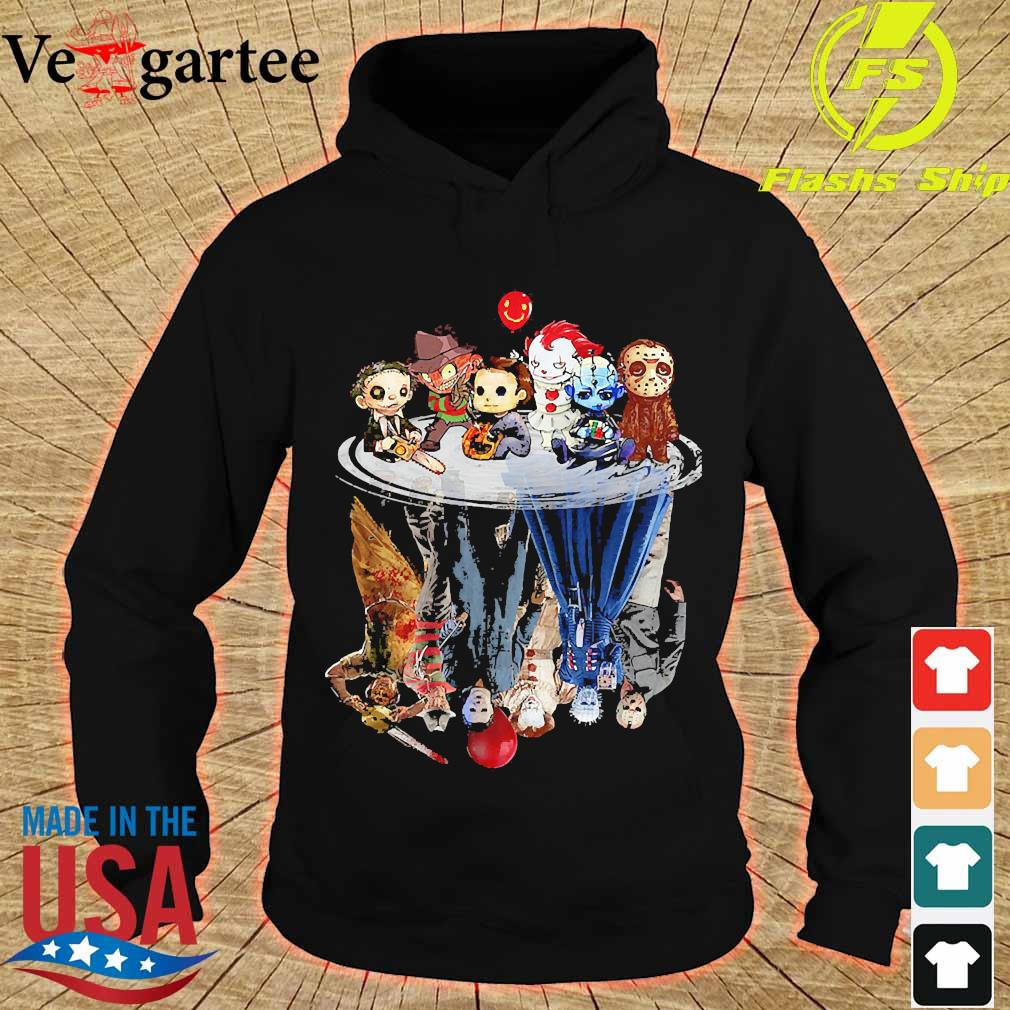 Horror characters movies water mirror reflection s hoodie