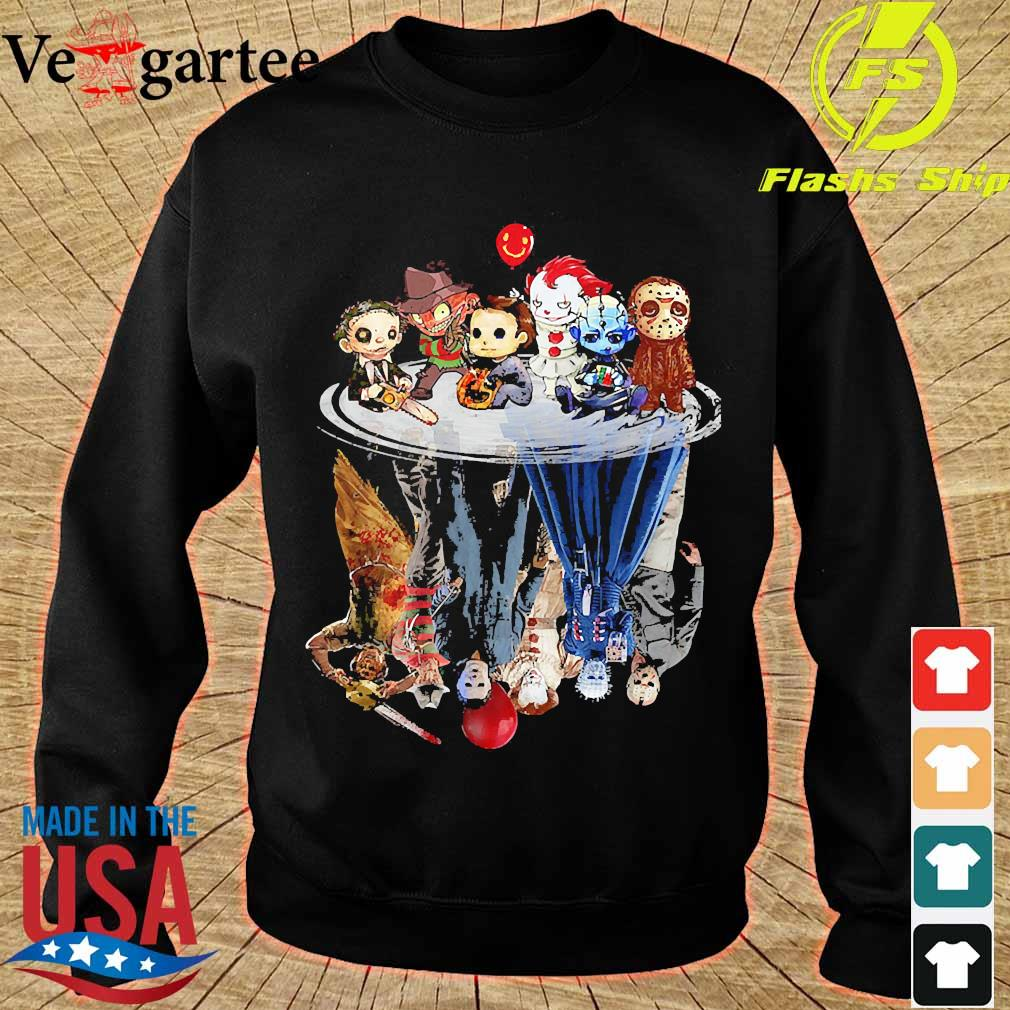 Horror characters movies water mirror reflection s sweater