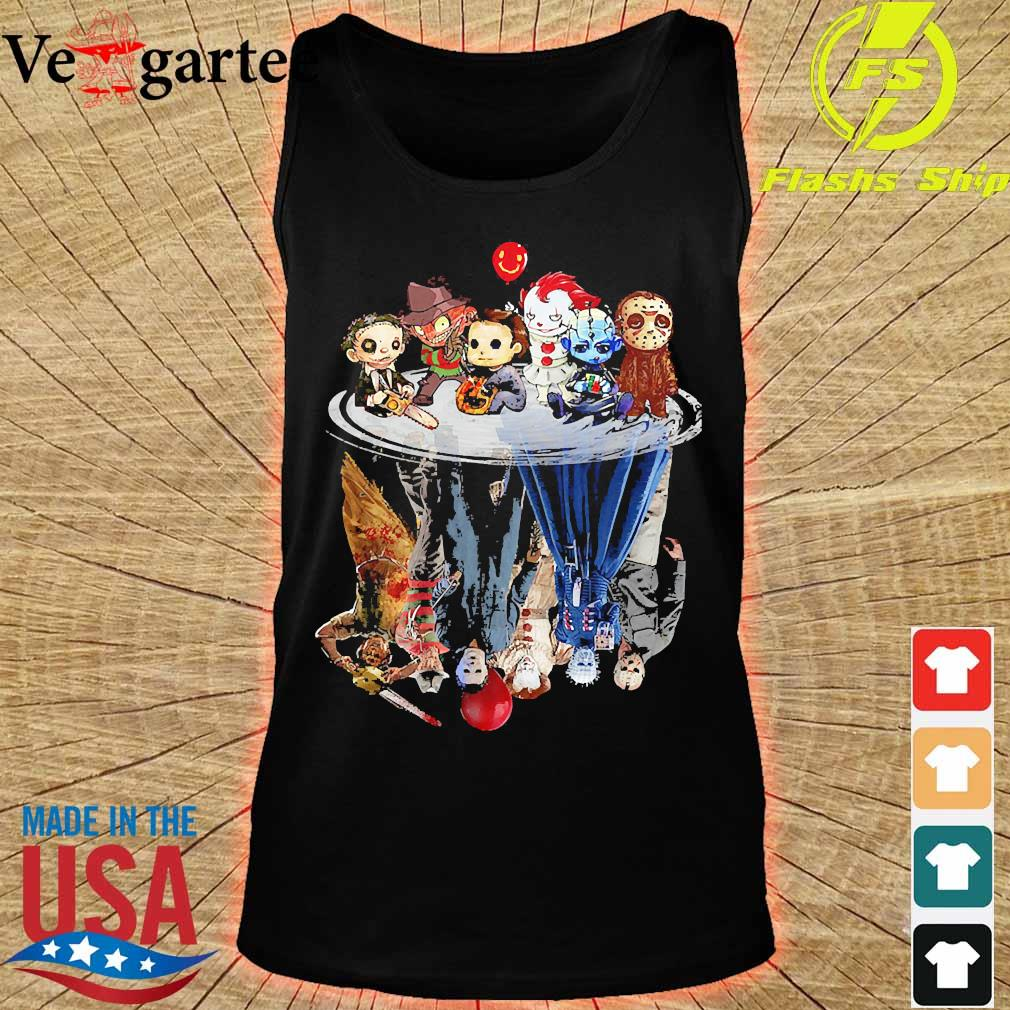 Horror characters movies water mirror reflection s tank top